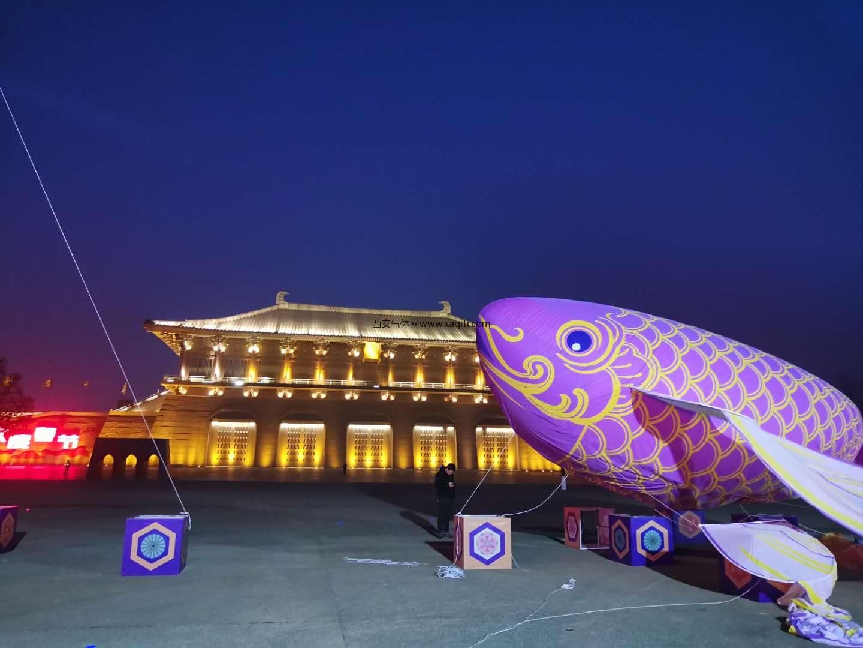 本网为2020西安大明宫上元灯节提供氦气充气服务